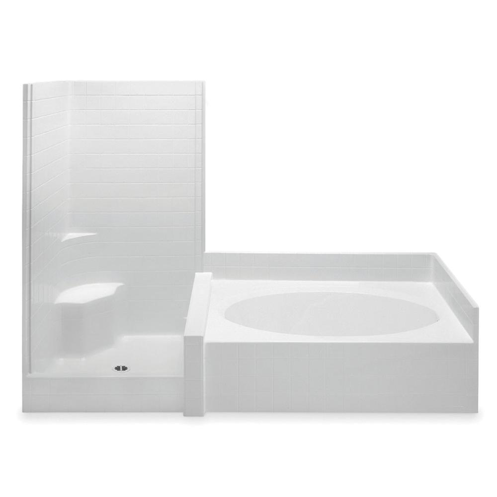 Aquatic Darsey 10242S 2-Pc Gelcoat Tub & Shwr Whirlpool With Seat