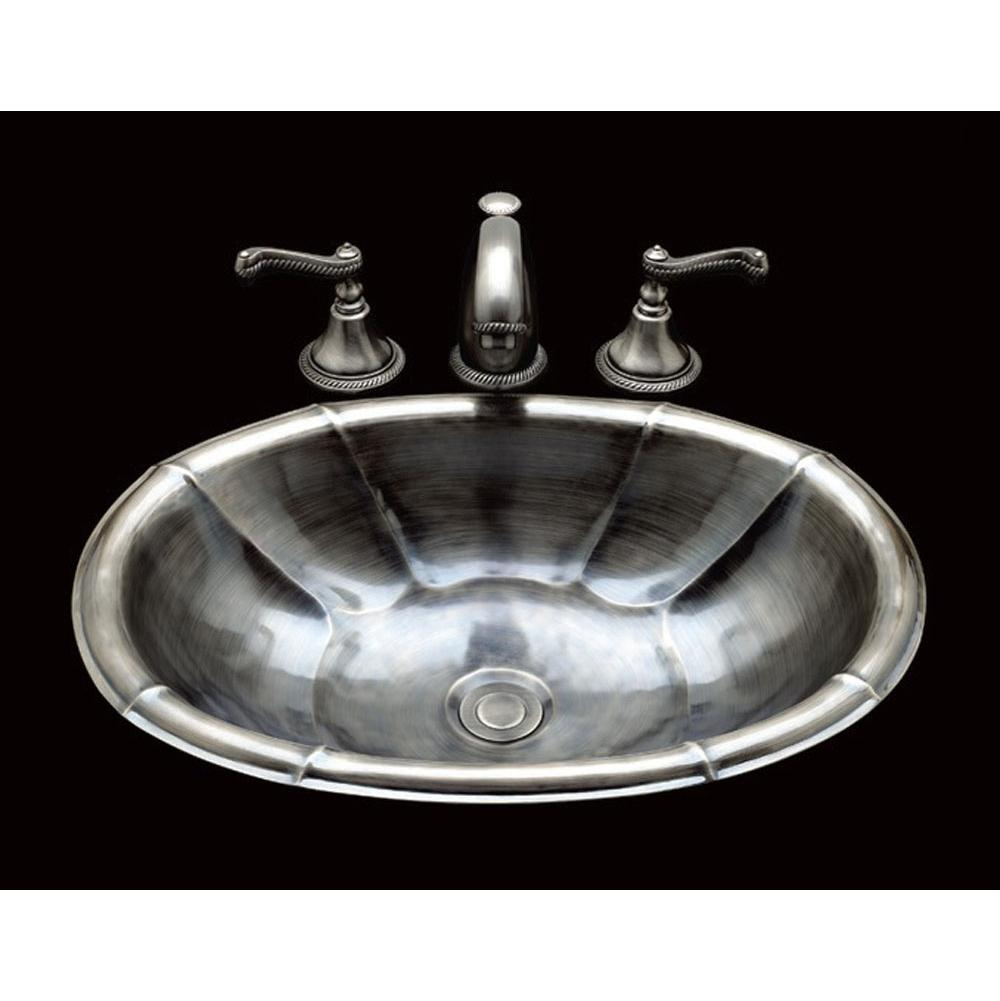 Bates And Bates Small Oval Lavatory, Dauphin Pattern, Drop In