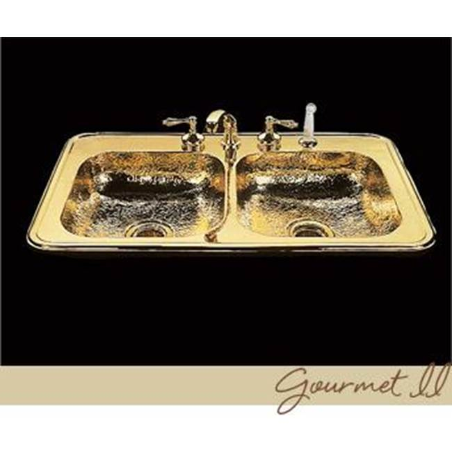 Bates And Bates Gourmet Ii, Kitchen Sink, Hammertone Pattern, Drop In