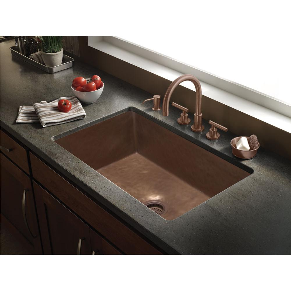 Bates And Bates Zarina, Rectangle Kitchen Sink, Textured Pattern, Undermount & Drop In