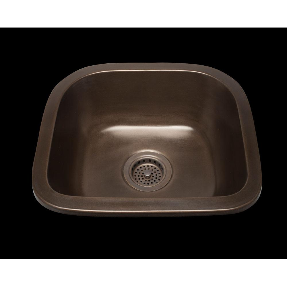 Bates And Bates Zane, D-Bowl Prep Sink, Plain Pattern, 3 1/2'' Drain Opening, Undermount & Drop In
