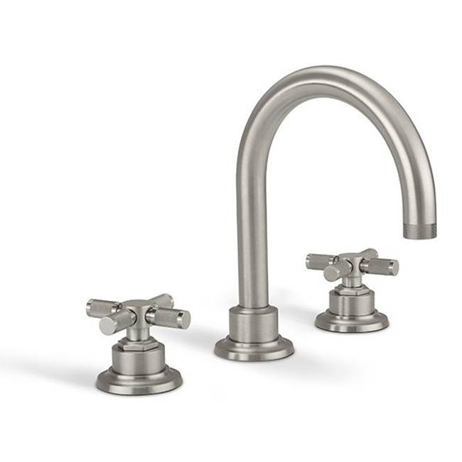 California Faucets 8'' Widespread Lavatory Faucet with  Knurled Handle