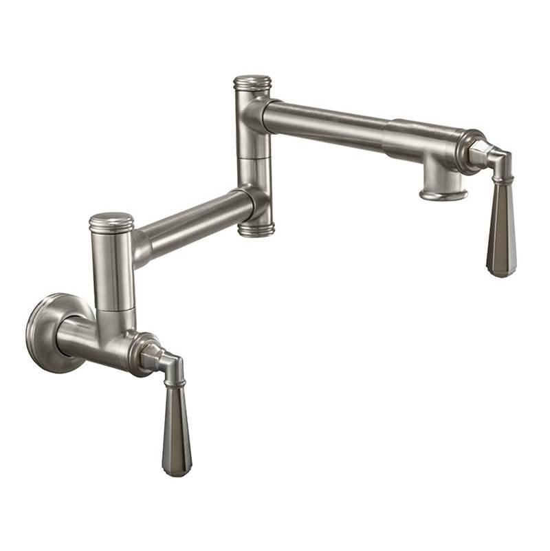 California Faucets Pot Filler - Dual Handle Wall Mount - Traditional