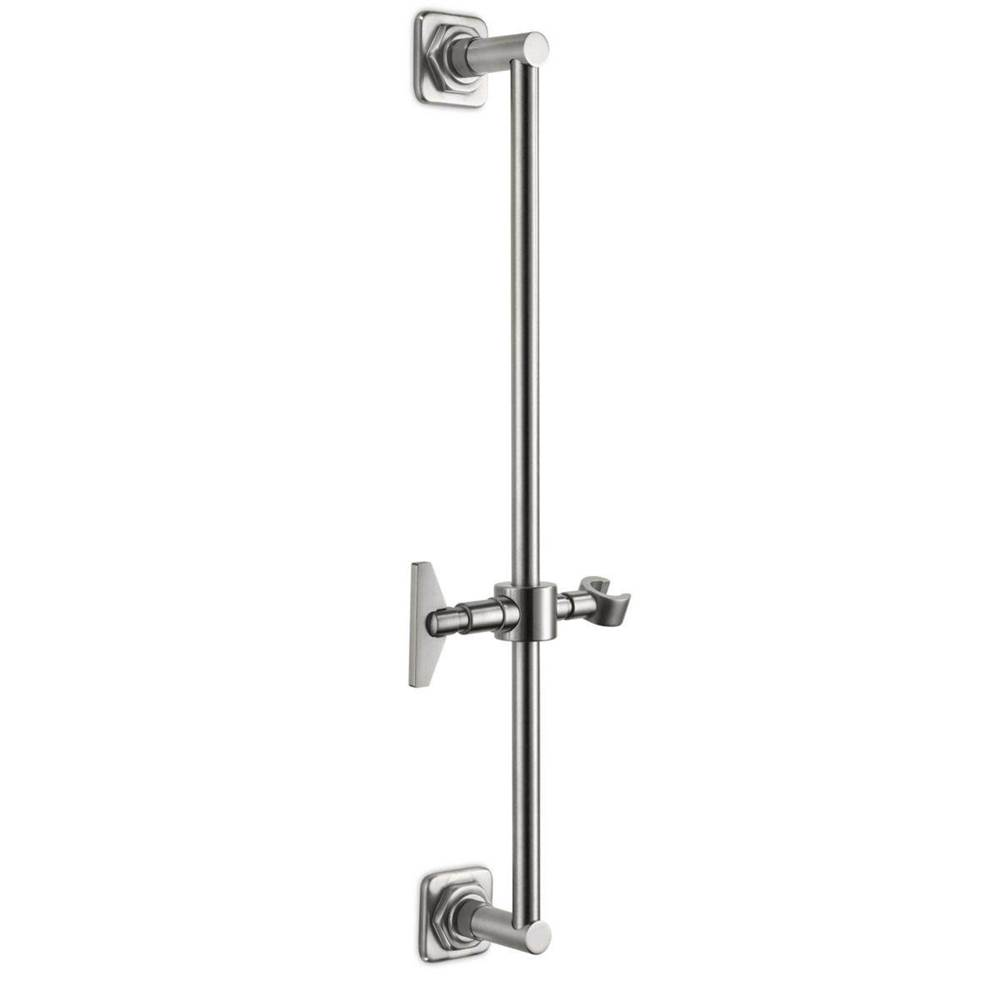 California Faucets Wall Mounted Slide Bar - Quad Base with Blade Handle