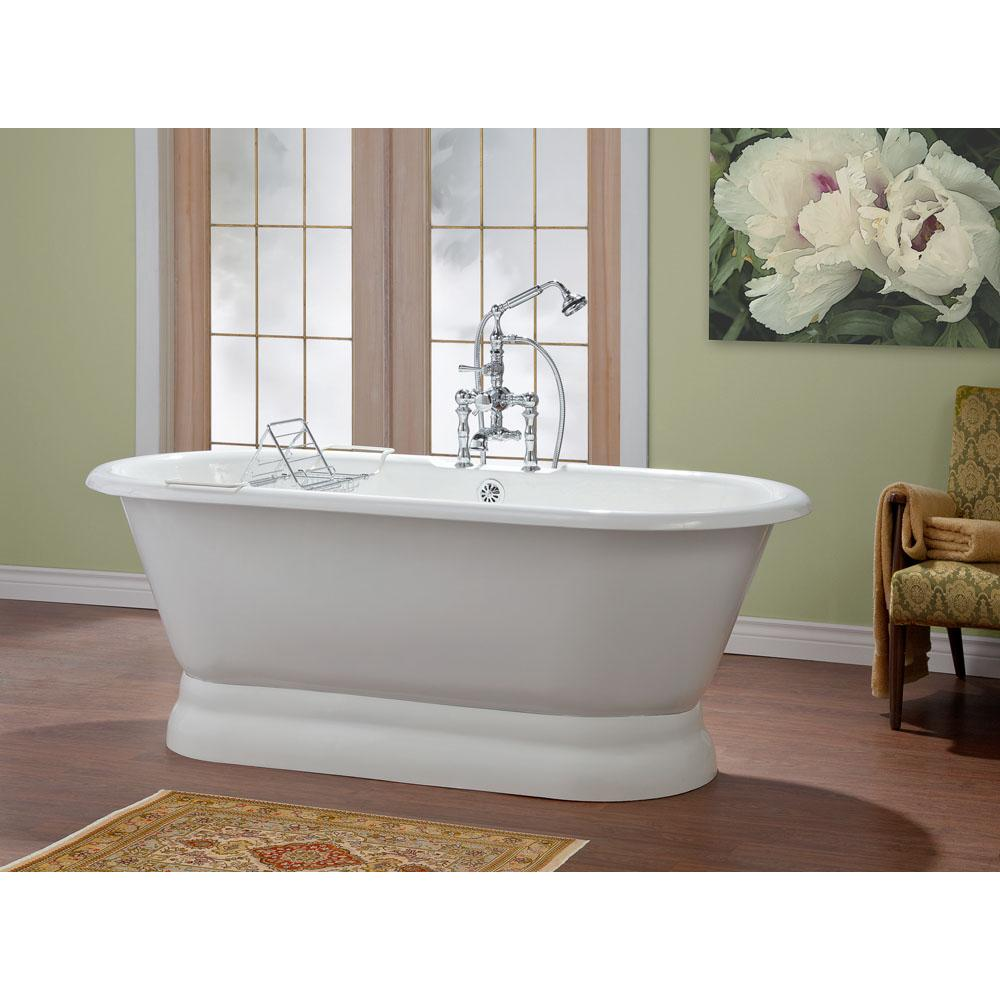 Cheviot Products REGAL Cast Iron Bathtub with Pedestal Base and Faucet Holes