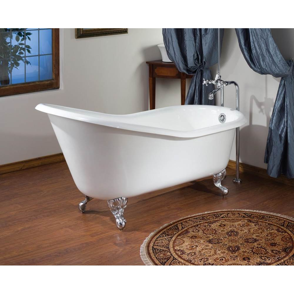 Cheviot Products SLIPPER Cast Iron Bathtub with Faucet Holes
