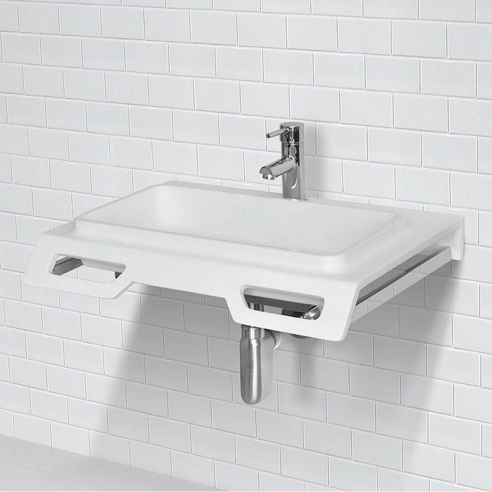 Decolav Solid Surface Ada Compliant Wall-Mount Lavatory