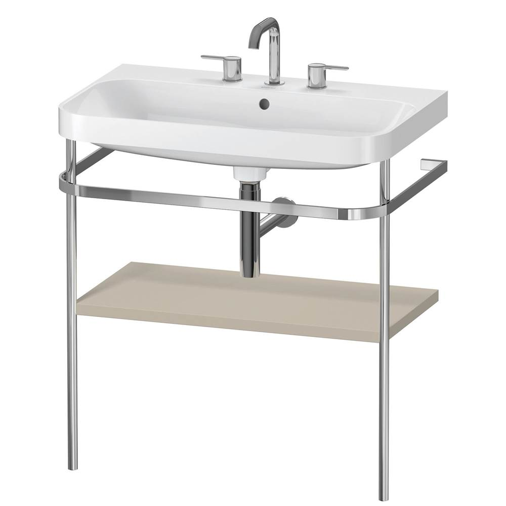 Duravit Duravit Happy D.2 Plus C-Shaped Metal Console  Taupe Satin Matte