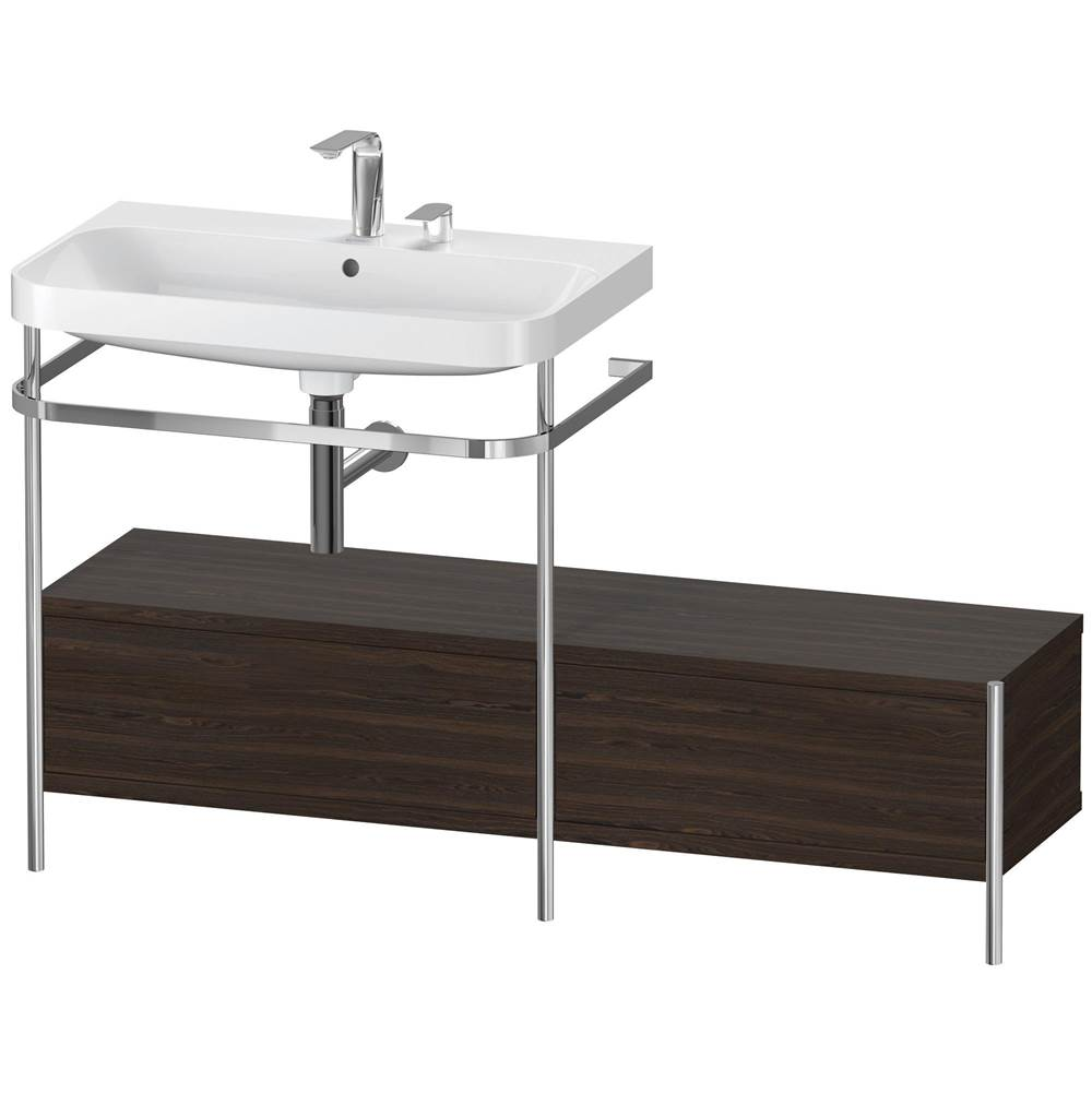 Duravit Duravit Happy D.2 Plus C-Shaped Metal Console  Brushed Walnut