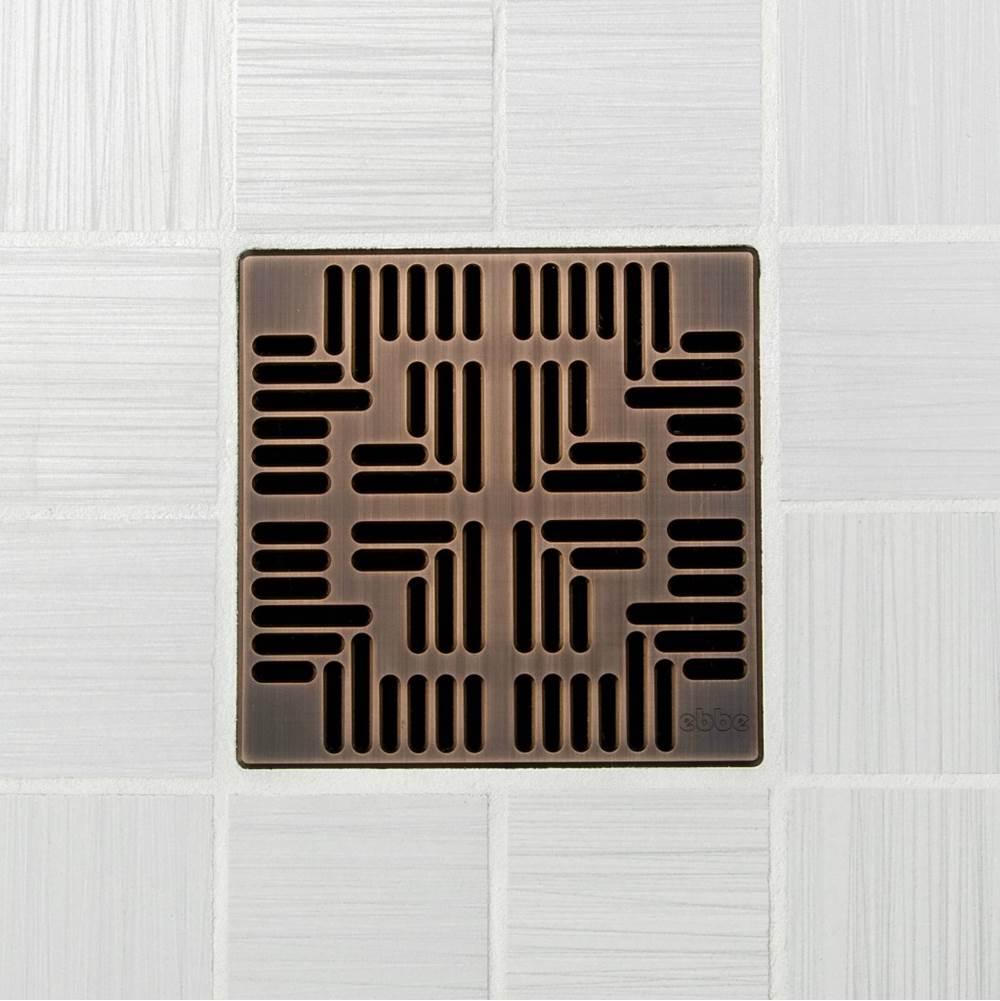 Ebbe 4'' UNIQUE GRATE - NAVAJO OIL RUBBED BRONZE