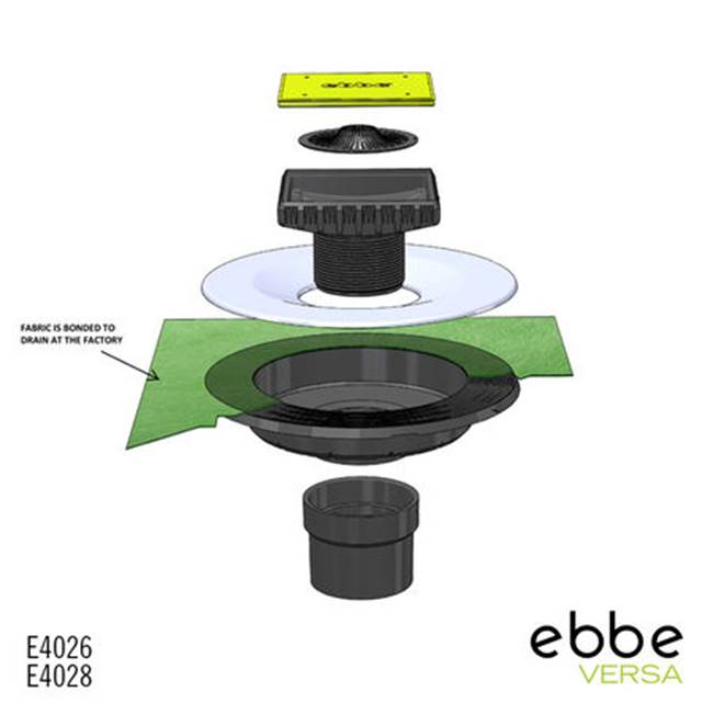 Ebbe E4026 Surface Bond Drain Kit/Abs
