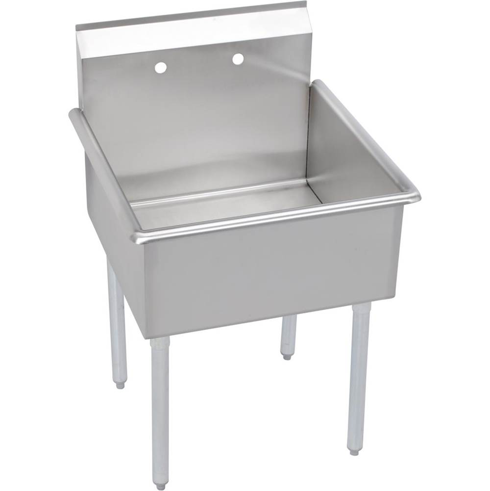 Elkay Elkay Stainless Steel 39'' x 24-1/2'' x 44'' 18 Gauge One Compartment Budget Sink with Stainless Steel Legs