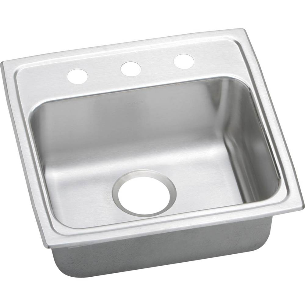 Elkay Elkay Lustertone Classic Stainless Steel 19-1/2'' x 19'' x 6-1/2'', Single Bowl Drop-in ADA Sink