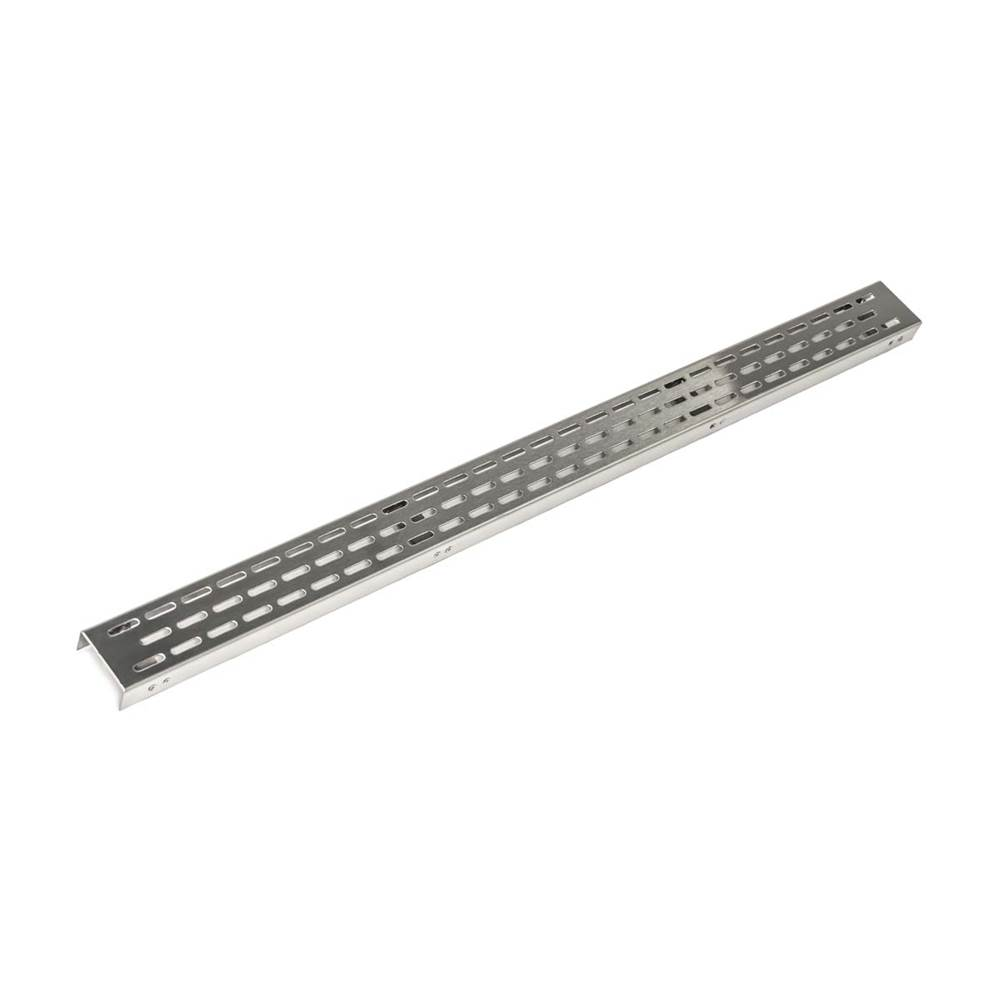 Infinity Drain 24'' Perforated Offset Oval Pattern Grate for FFED 65/FCBED 65/FCSED 65/FTED 65 in Polished Stainless