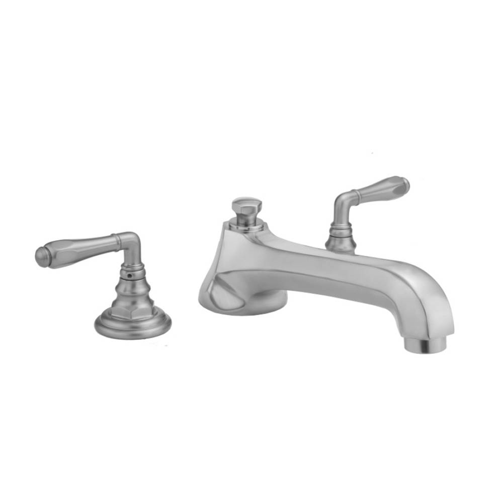 Jaclo Westfield Roman Tub Set with Low Spout and Smooth Lever Handles