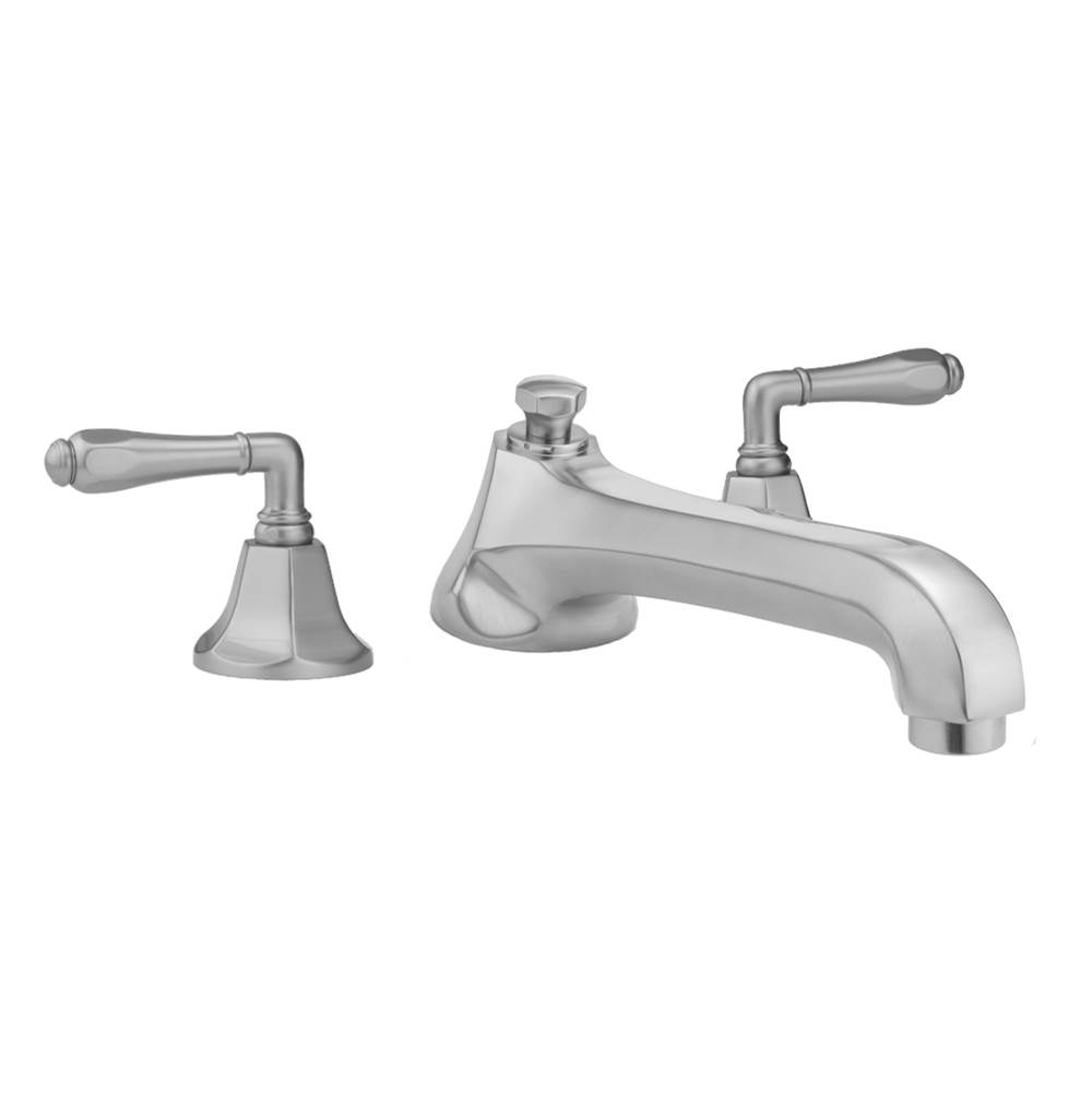 Jaclo Astor Roman Tub Set with Low Spout and Smooth Lever Handles