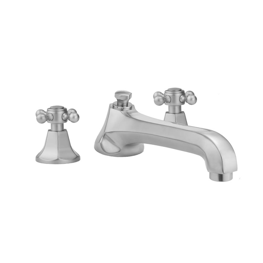 Jaclo Astor Roman Tub Set with Low Spout and Ball Cross Handles