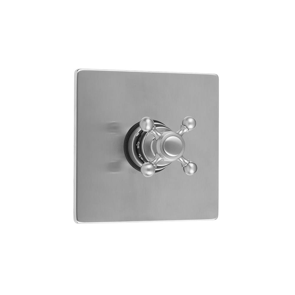 Jaclo Square Plate With Ball Cross Trim For Thermostatic Valves (J-TH34 and J-TH12)