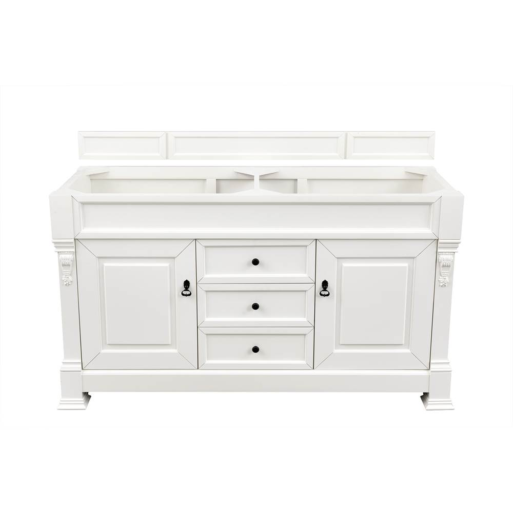 James Martin Furniture Brookfield 60'' Cottage White Double Vanity
