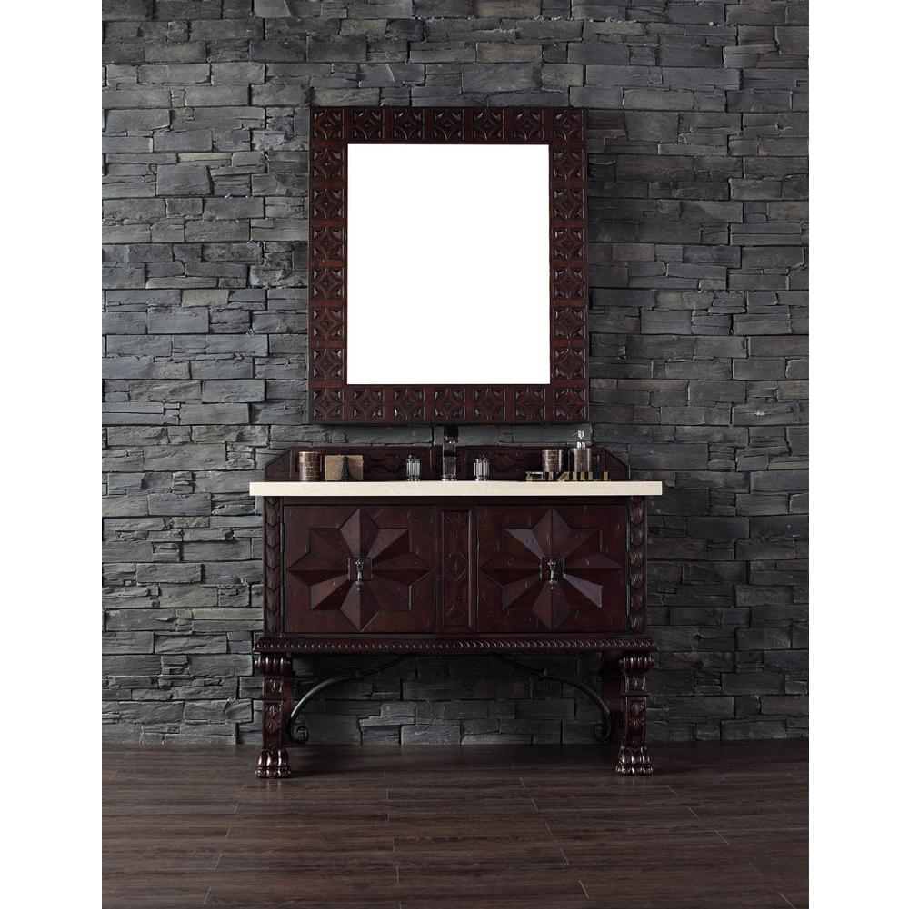 James Martin Furniture Balmoral 48'' Antique Walnut Single Vanity with 4 CM Galala Beige Marble Stone Top