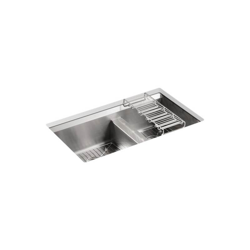 Kohler 8 Degree™ Offset Dbl Basin Ss Sink