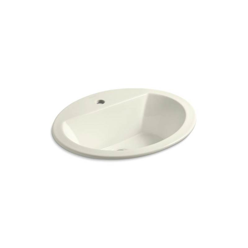 Kohler Bryant® Oval Drop-in bathroom sink with single faucet hole