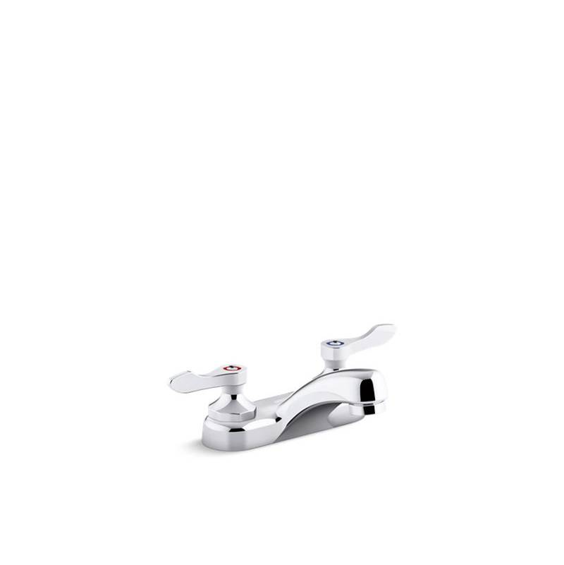 Kohler Triton Bowe 1.0 gpm Centerset Bathroom Sink Faucet with Aerated Flow and Lever Handles, Drain Not Included