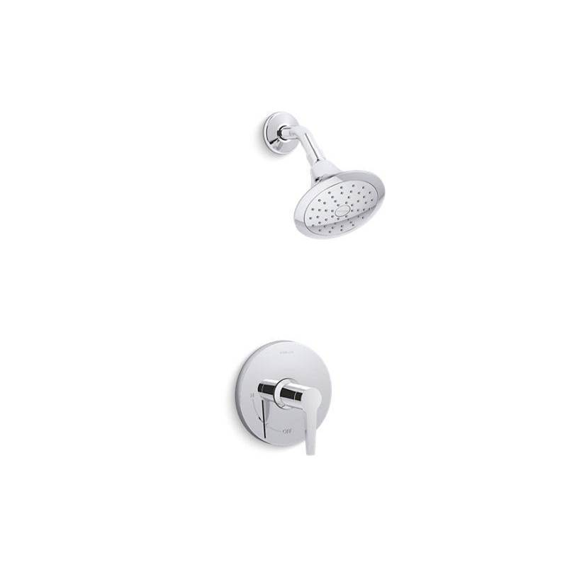 Kohler Pitch™ Rite-Temp® shower trim with 2.0 gpm showerhead