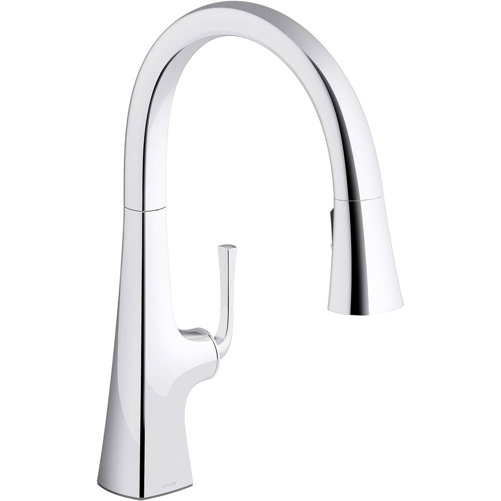 Kohler Graze Pull-down Kitchen Sink Faucet with Three-function Sprayhead