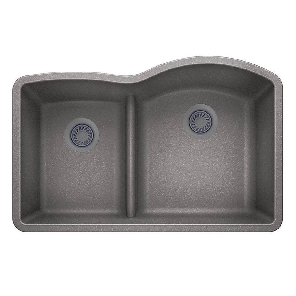 Luxart SILGRANIT® Double Bowl 40/60 Offset Low Divide Undermount Sink