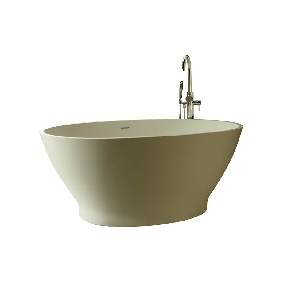 MTI Baths 63X36 Gloss Biscuit Ess Air Bath With Integrated Pedestal Alissa 6