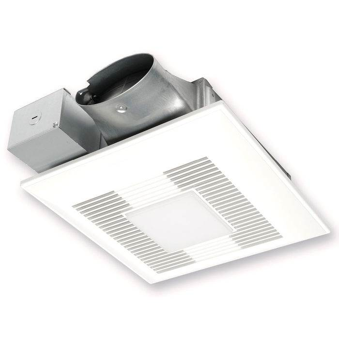Panasonic WhisperValue DC Fan/LED Light,  Pick-A-Flow™ Speed Selector 80 or 100 CFM with ECM Motor