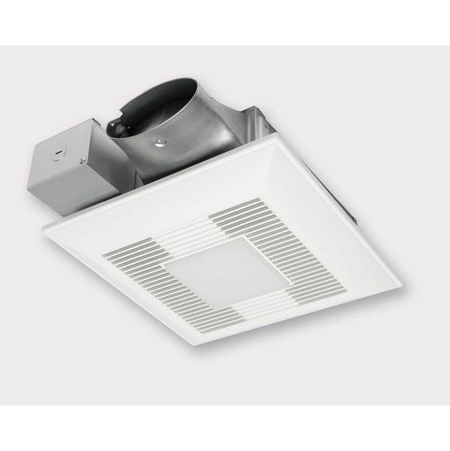 Panasonic WhisperValue DC Fan/LED Light,  Pick-A-Flow™ Speed Selector 50, 80 or 100 CFM with ECM Motor