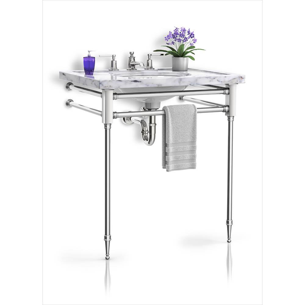 Palmer Industries Capital Vanity Console - 2 Leg Configuration