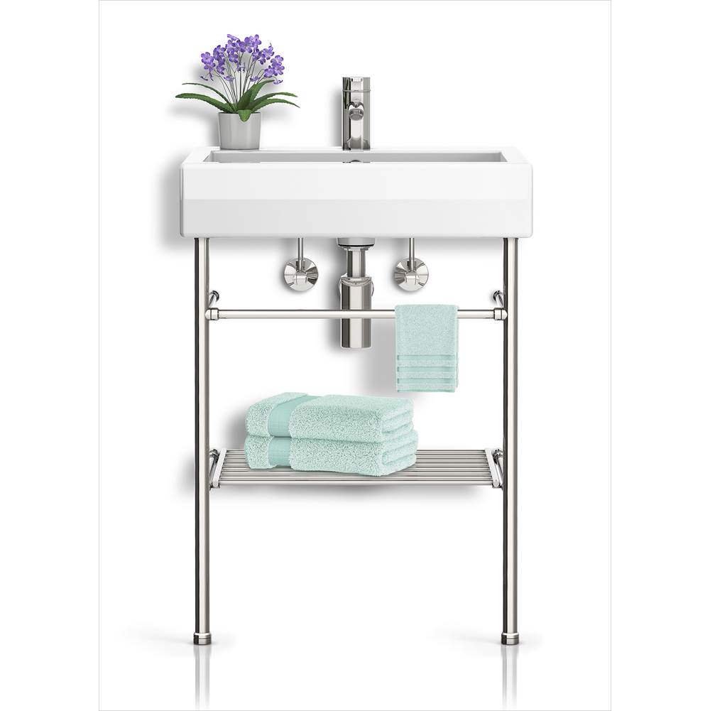 Palmer Industries Metro Vanity Console - 2 Leg Configuration