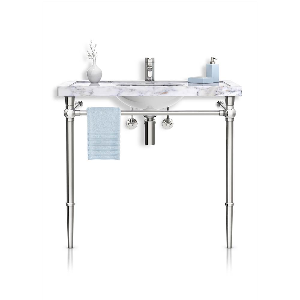 Palmer Industries Modern Vanity Console - 2 Leg Configuration