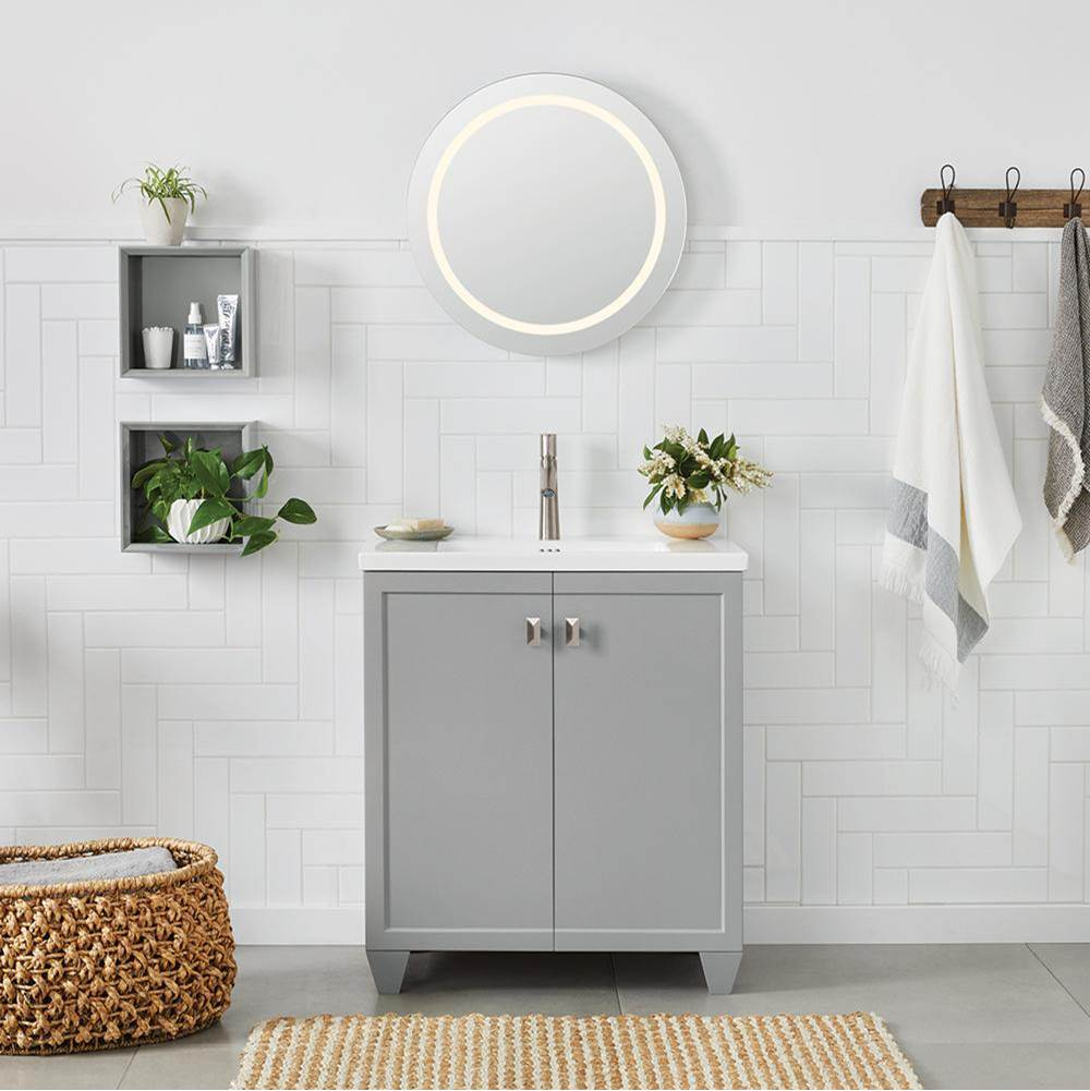 Ronbow 31'' Adina Wall Mount Bathroom Vanity Base Cabinet in White