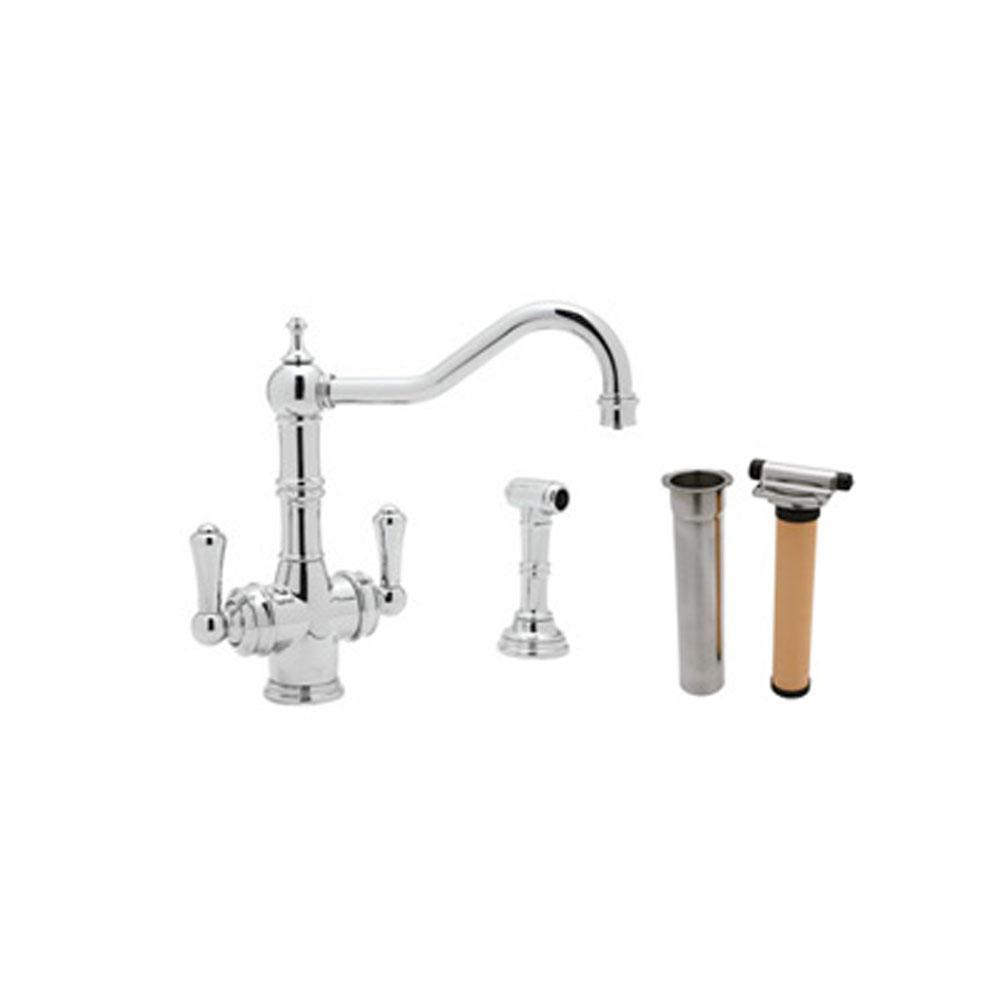 Rohl Edwardian™ Two Handle Filter Kitchen Faucet Kit With Side Spray