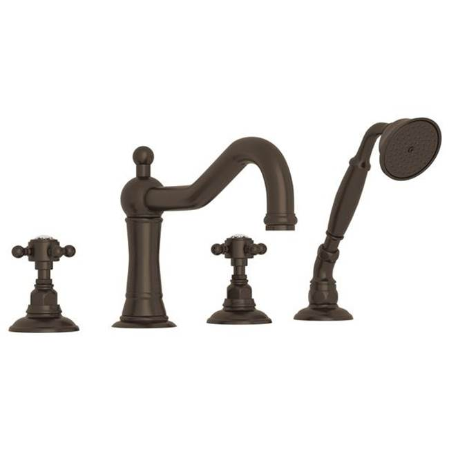 Rohl Rohl Country Bath Acqui Four Hole Deck Mounted Tub Filler