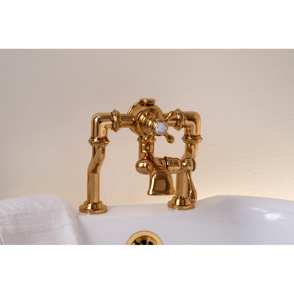 Strom Living Thermostatic Tub Faucets Supercoat Brass