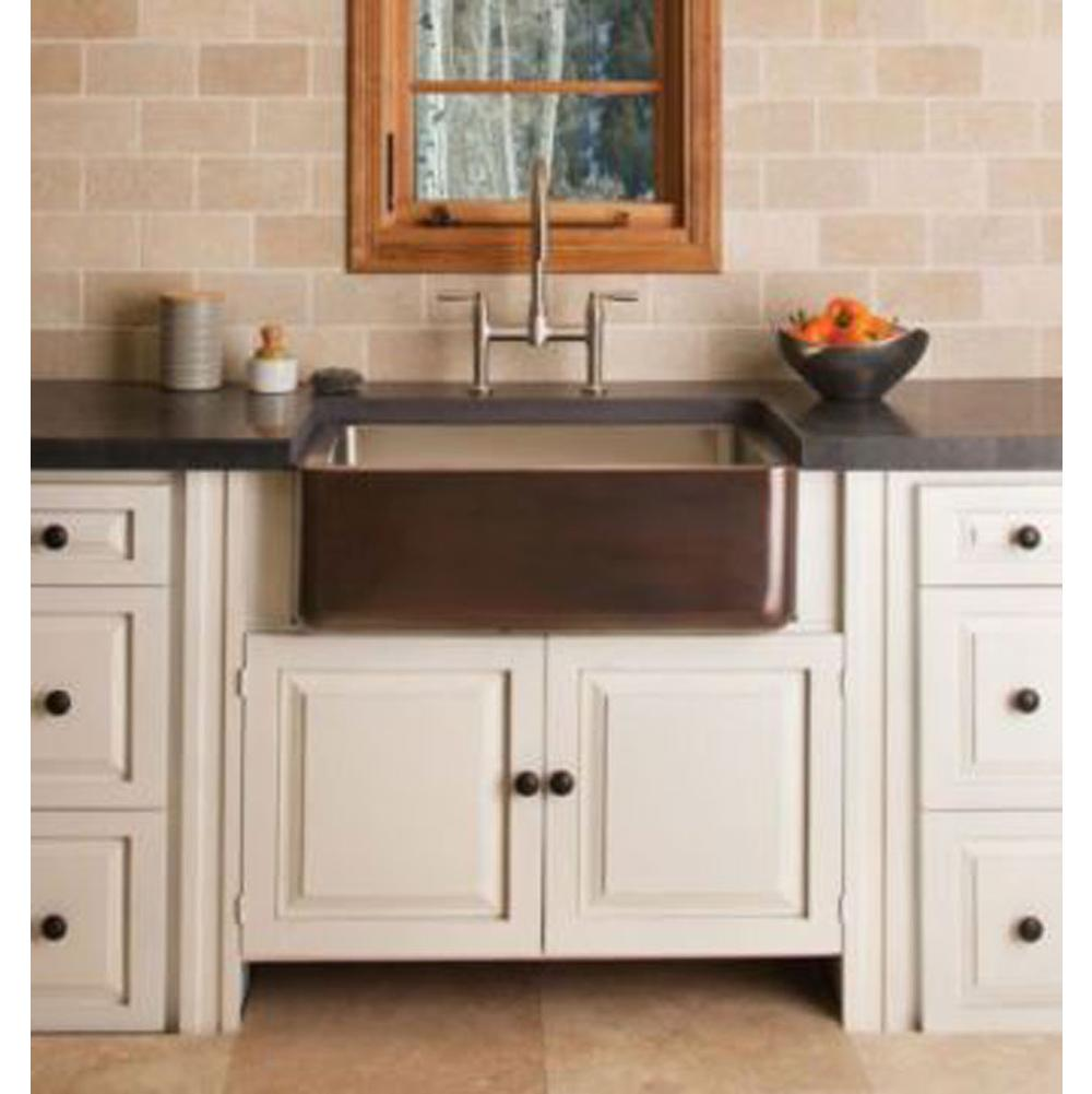 Stone Forest Copper/Stainless Farmhouse Sink