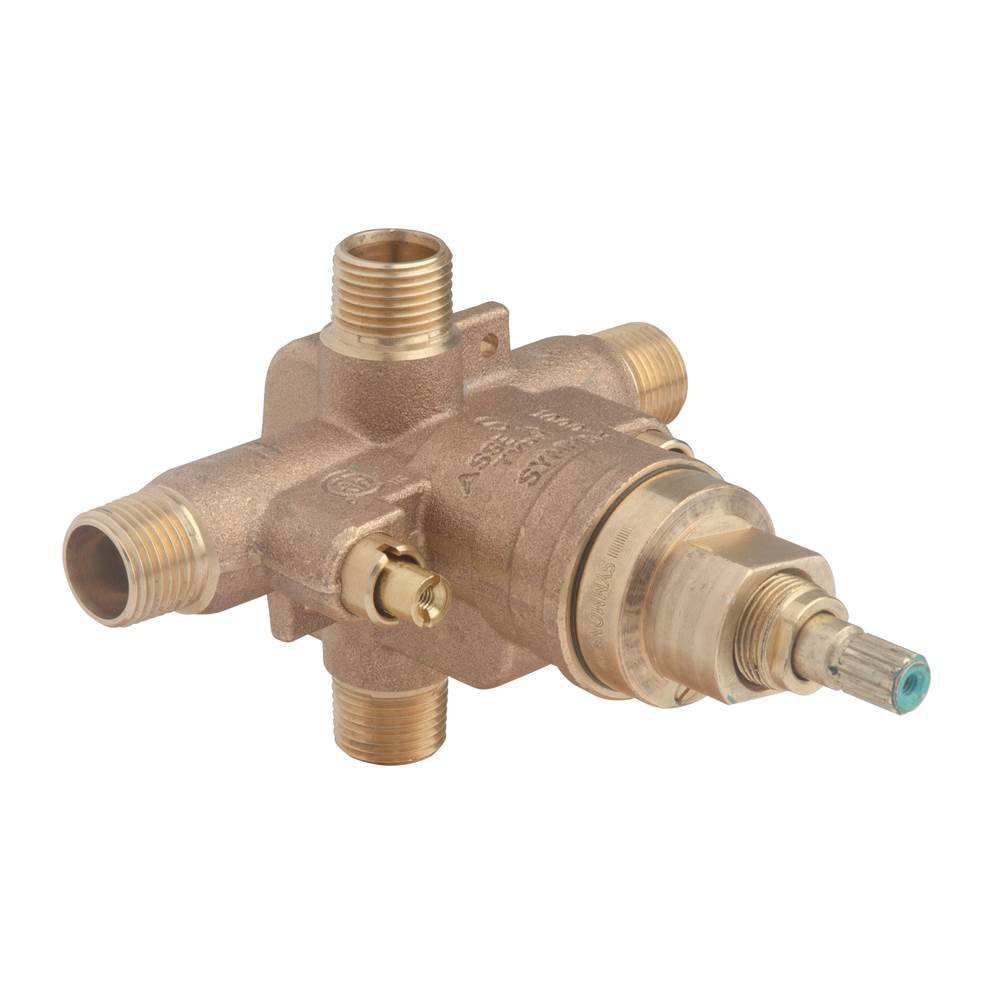 Symmons Temptrol Brass Pressure-Balancing Tub and Shower Valve with Service Stops