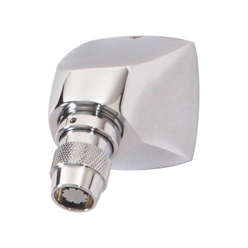 Symmons Institutional 1-Spray 1 in. Fixed Showerhead with Anchor Plate in Polished Chrome (1.5 GPM)