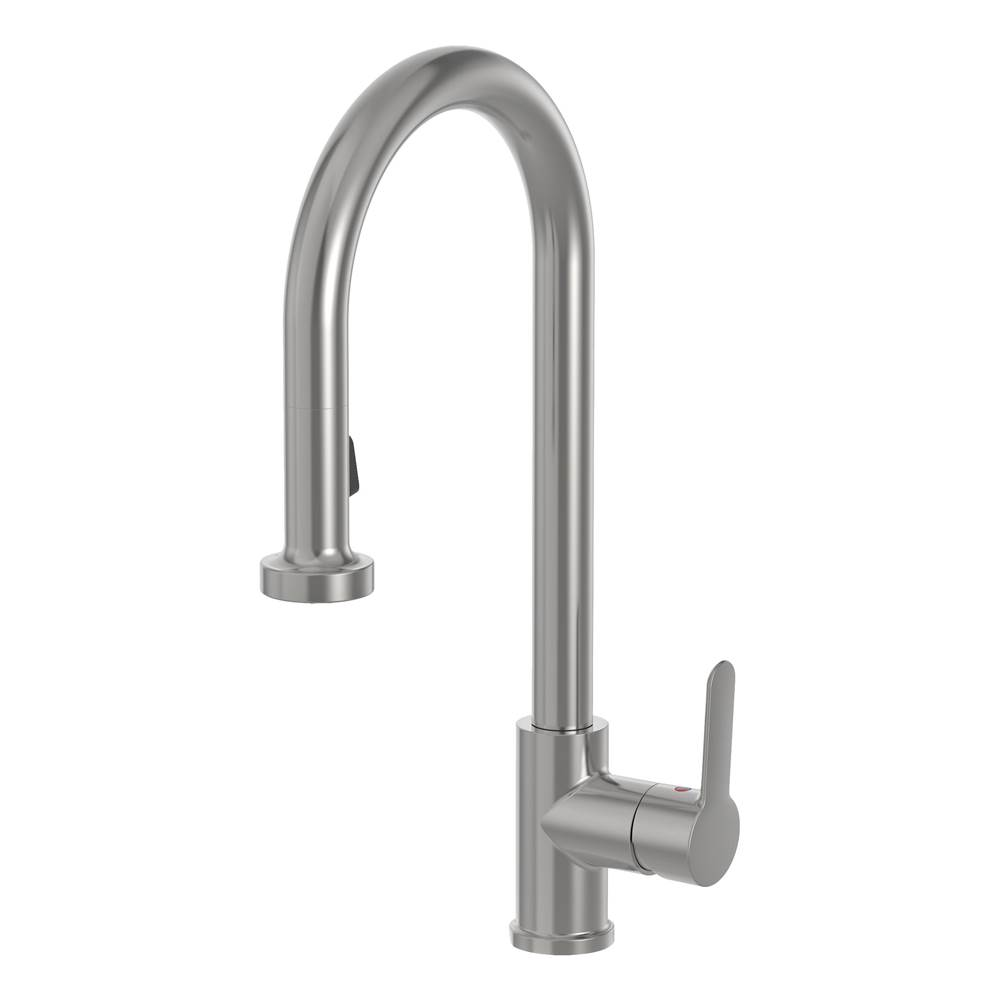 Symmons Sereno Single-Handle Pull-Down Sprayer Kitchen Faucet in Stainless Steel (1.5 GPM)
