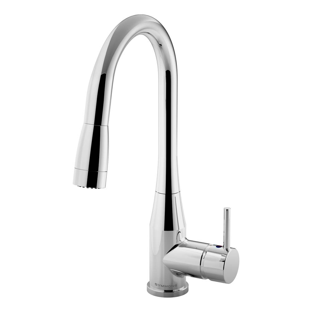 Symmons Sereno Single-Handle Pull-Down Sprayer Kitchen Faucet in Polished Chrome (2.2 GPM)