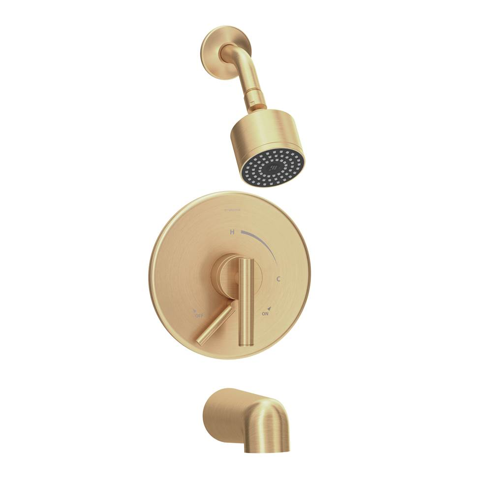 Symmons Dia Single Handle 1-Spray Tub and Shower Faucet Trim in Brushed Bronze - 1.5 GPM (Valve Not Included)
