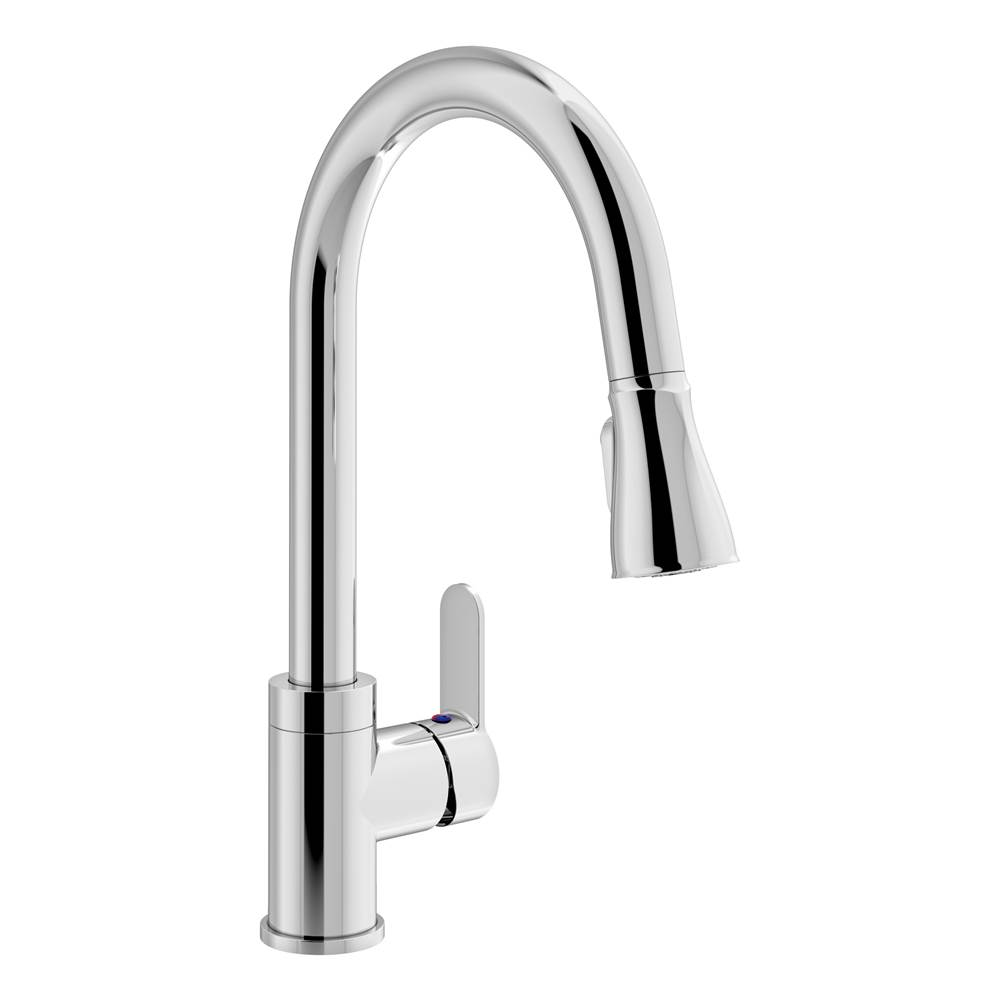 Symmons Identity Single-Handle Pull-Down Sprayer Kitchen Faucet in Polished Chrome (1.5 GPM)