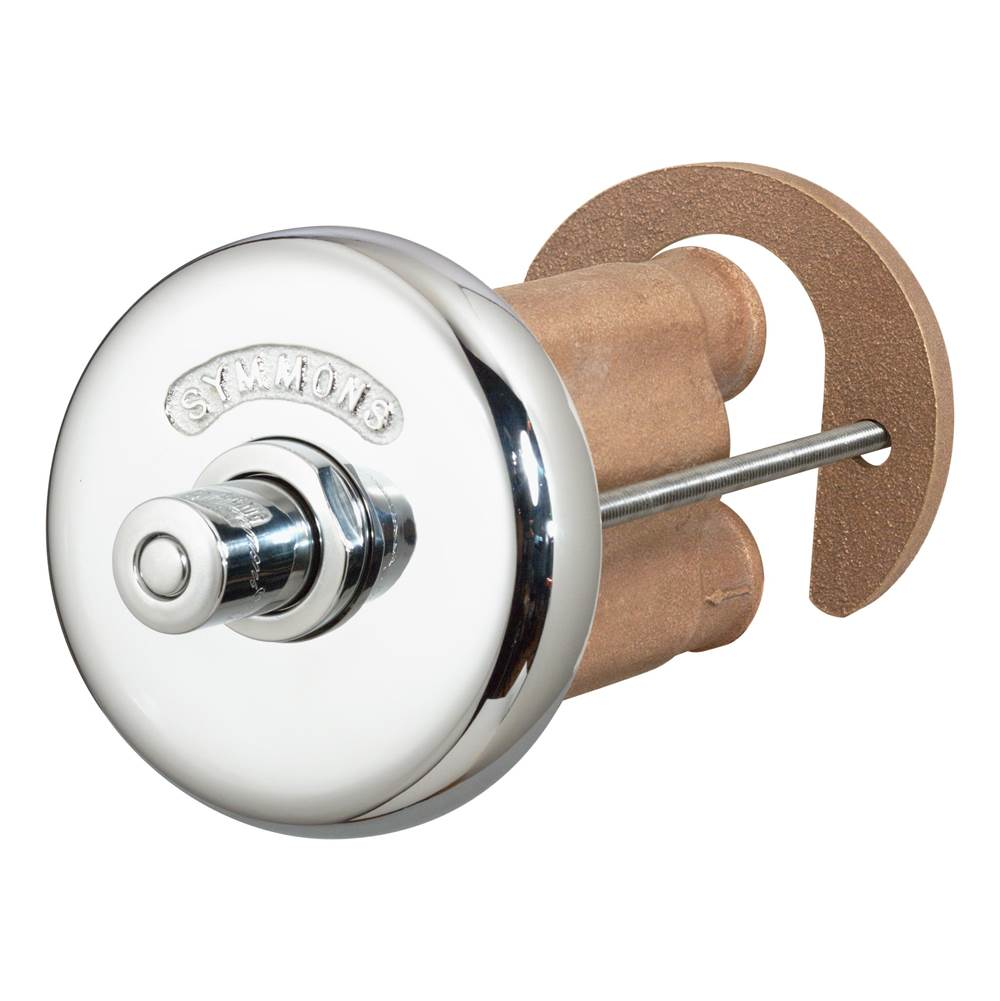 Symmons Showeroff Single Push-Button Metering Valve Trim with Rear Mounting Escutcheon (Valve Not Included)