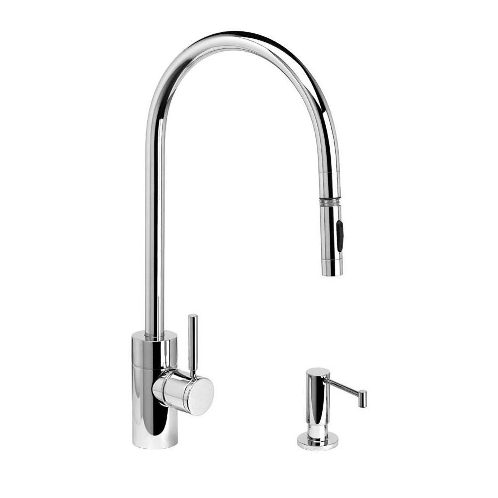 Waterstone Contemporary Extended Reach Plp Pulldown Faucet - Toggle Sprayer - 2Pc. Suite