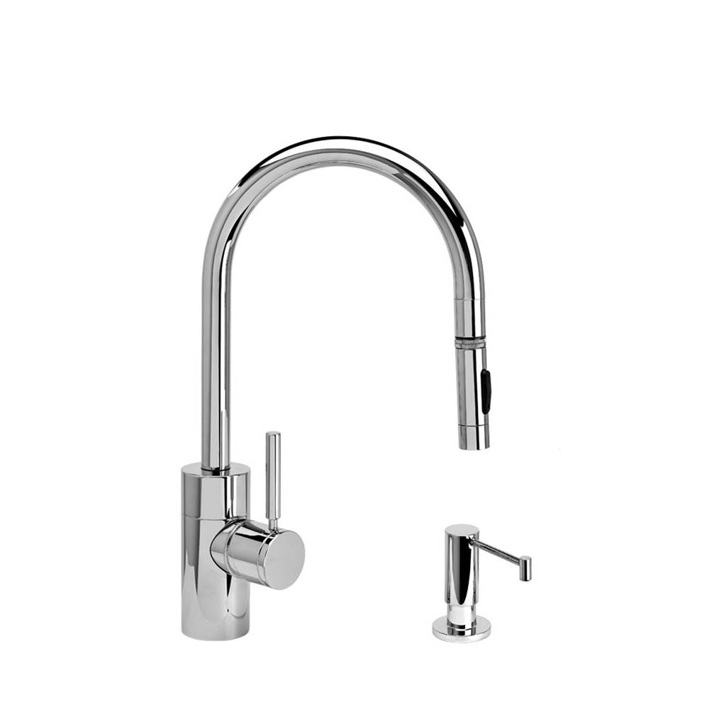 Waterstone Contemporary Plp Pulldown Faucet - Angled Spout - Toggle Sprayer - 2Pc. Suite